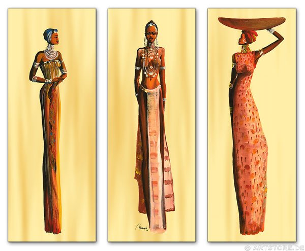 Wandbild Mia Morro MASSAI BEAUTYS - EDITION