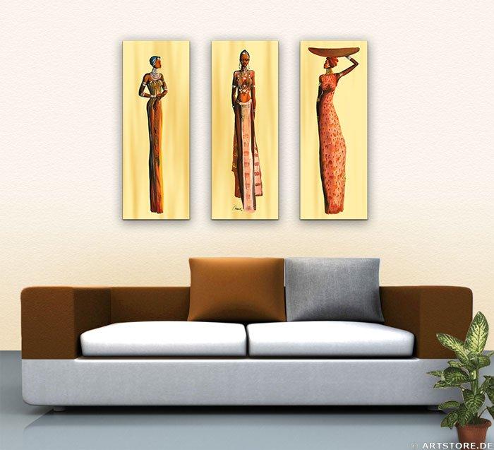 Wandbild Mia Morro MASSAI BEAUTYS - EDITION Wohnbeispiel