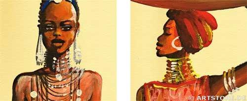 Wandbild Mia Morro MASSAI BEAUTYS - EDITION Detailausschnitt