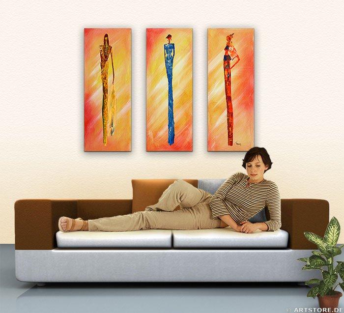 Wandbild Mia Morro MASSAI FASHION - EDITION Wohnbeispiel