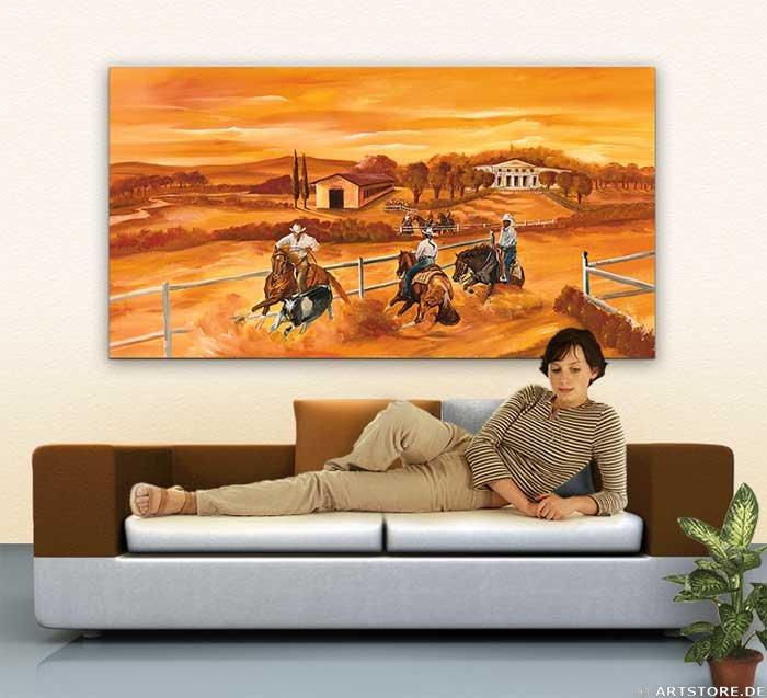 Wandbild Mia Morro WILD, WILD WEST Wohnbeispiel