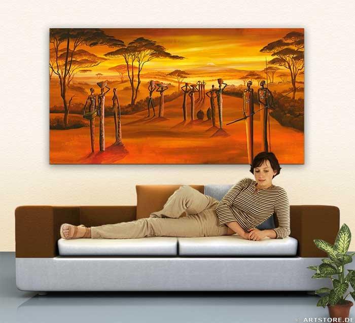 Wandbild Mia Morro GREAT AFRICAN VIEW Wohnbeispiel