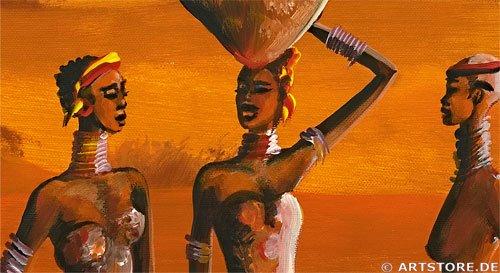 Wandbild Mia Morro GREAT AFRICAN VIEW Detailausschnitt