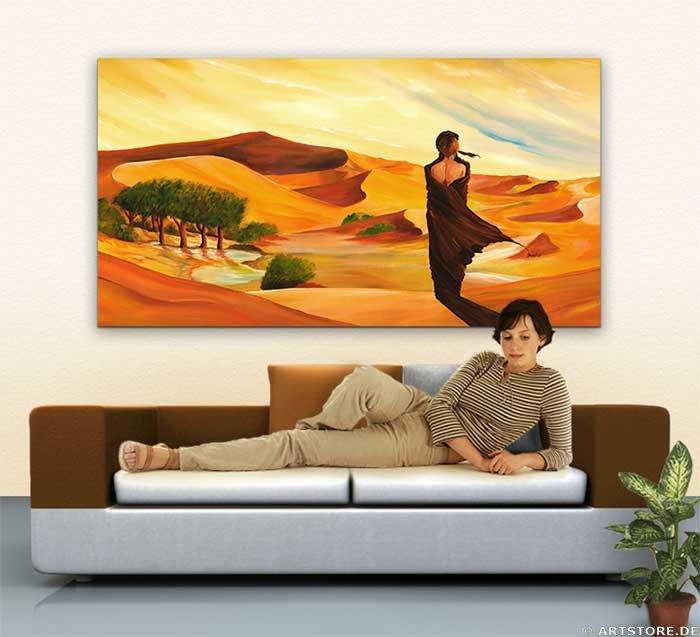 Wandbild Mia Morro FORBIDDEN LOVE Wohnbeispiel
