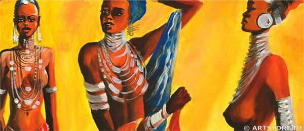Wandbild Mia Morro MASSAI AFRIKA Detailausschnitt