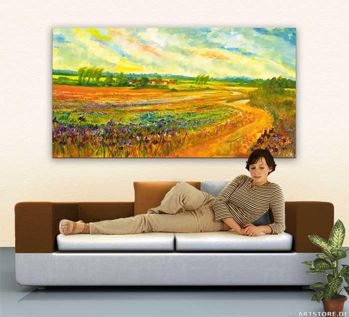 Wandbild Mia Morro COLOR IMPRESSION Wohnbeispiel