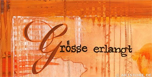 Wandbild Mia Morro ERFOLG - SUCCESS Detailausschnitt