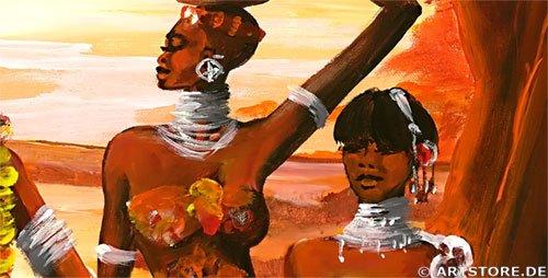 Wandbild Mia Morro LAND OF MASSAI Detailausschnitt