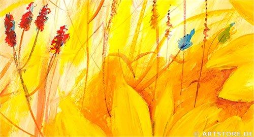 Wandbild Mia Morro FRESH SUNFLOWER Detailausschnitt