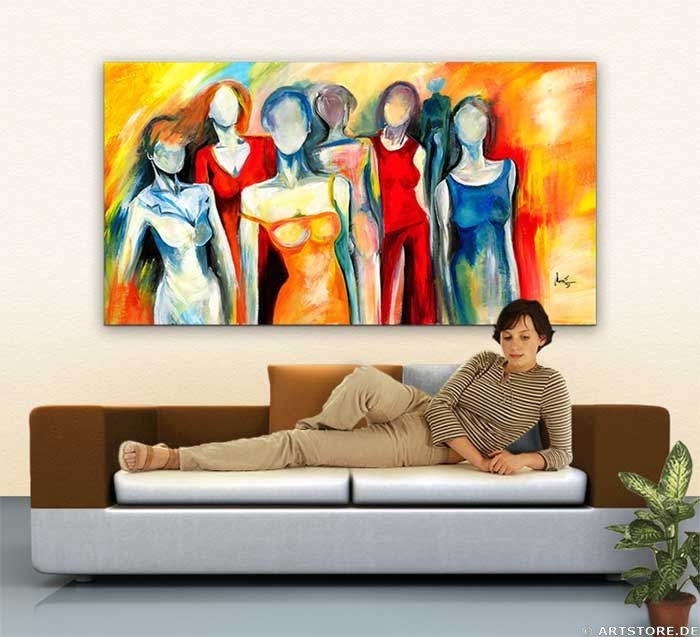 Wandbild Mia Morro COLORS UNITED Wohnbeispiel