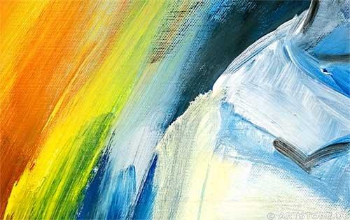 Wandbild Mia Morro COLORS UNITED Detailausschnitt