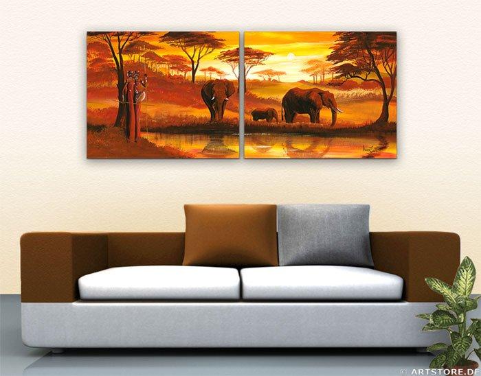 Wandbild Mia Morro GOLDEN AFRICA - EDITION Wohnbeispiel