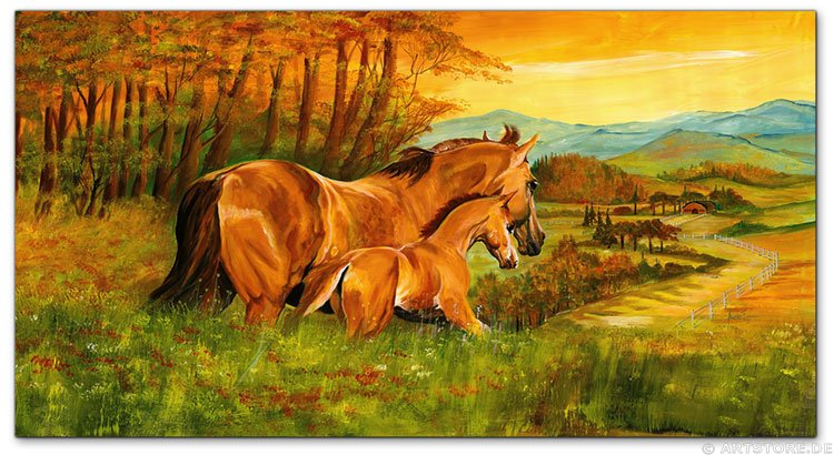Wandbild Mia Morro HORSE FAMILY
