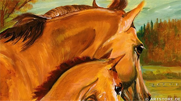 Wandbild Mia Morro HORSE FAMILY Detailausschnitt