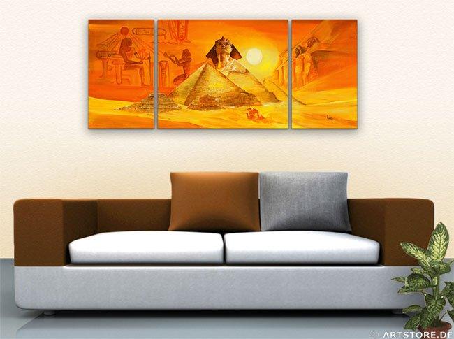 Wandbild Mia Morro MYTHOS ÄGYPTEN - EDITION Wohnbeispiel