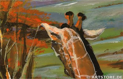 Wandbild Mia Morro GIRAFFEN IN AFRIKA Detailausschnitt