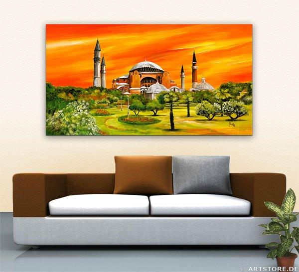 Wandbild Mia Morro Hagia Sophia - Istanbul Wohnbeispiel
