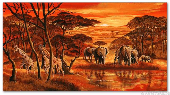 Wandbild Mia Morro AFRICAN WILDLIFE MY LOVE