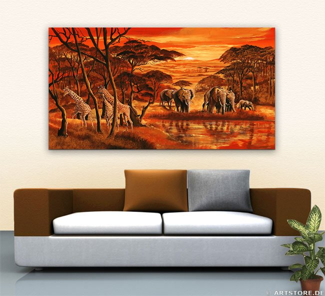 Wandbild Mia Morro AFRICAN WILDLIFE MY LOVE Wohnbeispiel