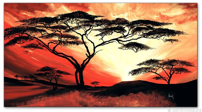 Wandbild Mia Morro GREAT AFRICA SUN