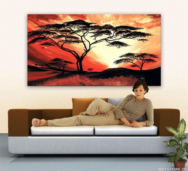Wandbild Mia Morro GREAT AFRICA SUN Wohnbeispiel