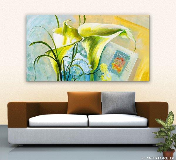 Wandbild Mia Morro CALLA OF LOVE Wohnbeispiel