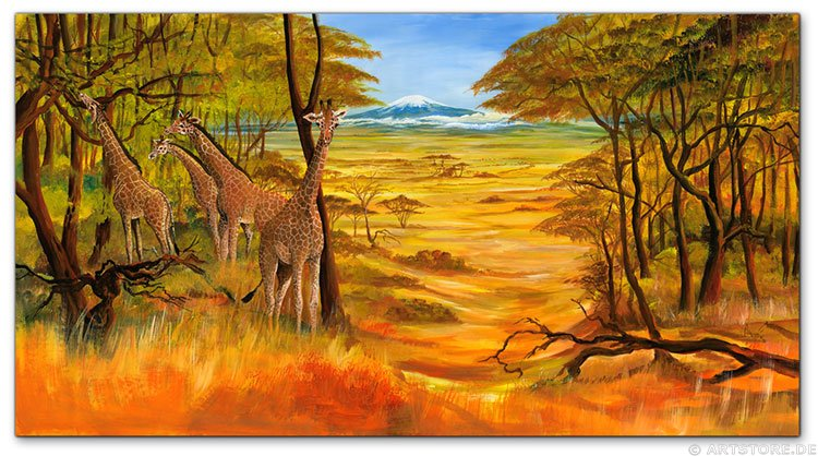 Wandbild Mia Morro BEAUTIFUL AFRIKA