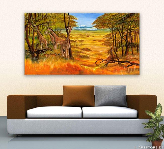 Wandbild Mia Morro BEAUTIFUL AFRIKA Wohnbeispiel