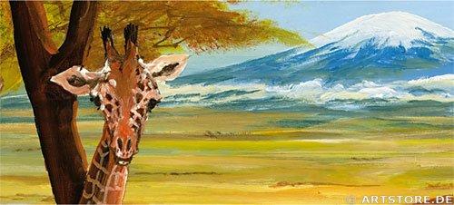Wandbild Mia Morro BEAUTIFUL AFRIKA Detailausschnitt