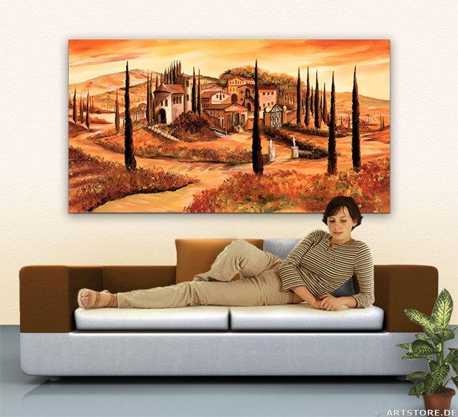 Wandbild Mia Morro TOSKANA ITALIEN Wohnbeispiel