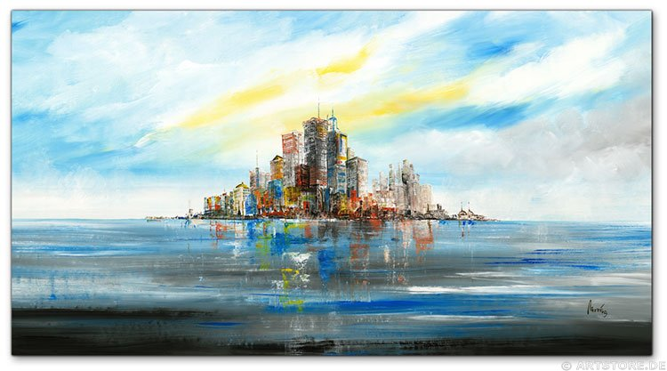 Wandbild Mia Morro NEW YORK SKYLINE - ABSTRAKT