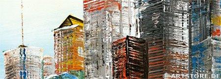 Wandbild Mia Morro NEW YORK SKYLINE - ABSTRAKT Detailausschnitt