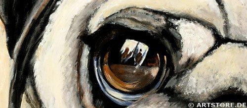 Wandbild Mia Morro MOPS Detailausschnitt