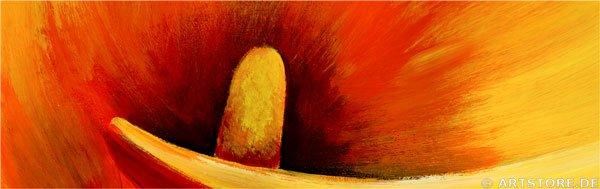Wandbild Mia Morro GOLDEN CALLA Detailausschnitt
