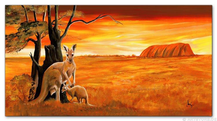 Wandbild Mia Morro KANGAROOS - AUSTRALIA