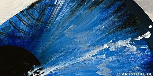 Wandbild Mia Morro BLUE EYE Detailausschnitt