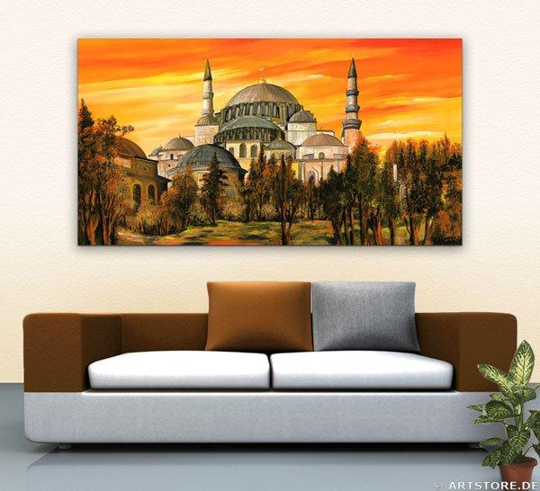 Wandbild Mia Morro SULEIMAN MOSCHEE Wohnbeispiel