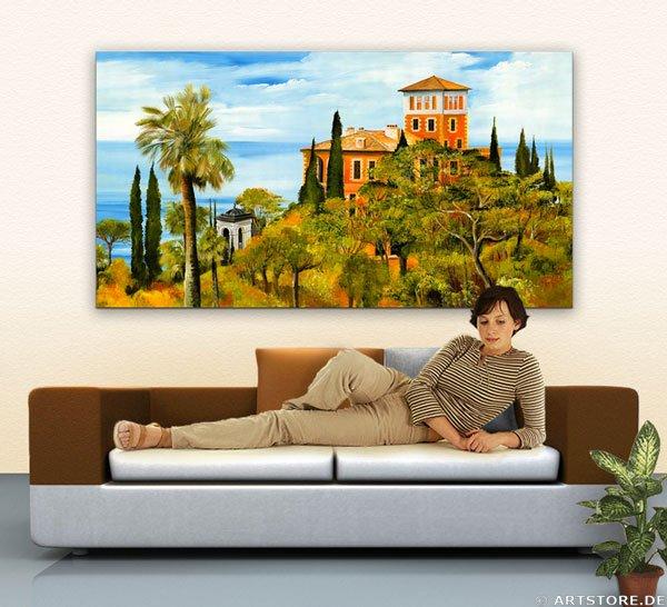 Wandbild Mia Morro VILLA AM MEER Wohnbeispiel