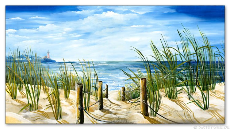 wandbilder mia morro meerblick ostsee nordsee kunstdrucke leinwand keilrahmen. Black Bedroom Furniture Sets. Home Design Ideas