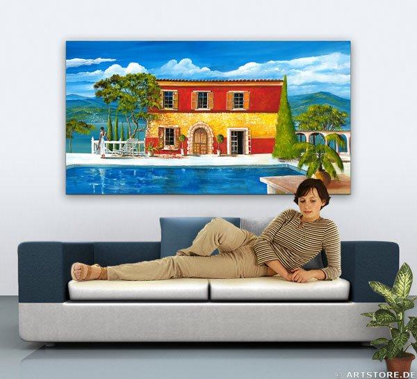 Wandbild Mia Morro VILLA SPANIEN AM MEER Wohnbeispiel
