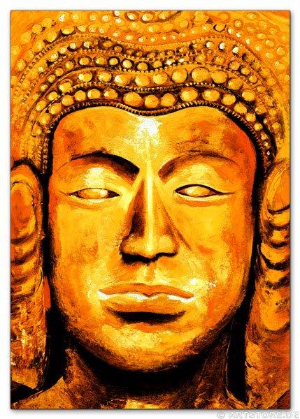 Wandbild Mia Morro GOLDENER BUDDHA