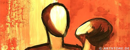 Wandbild Mia Morro LIEBESPAAR Detailausschnitt