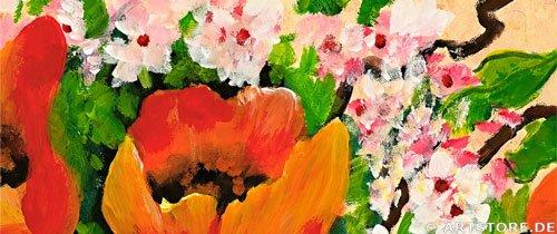 Wandbild Mia Morro FRISCHE BRIESE - MOHN Detailausschnitt