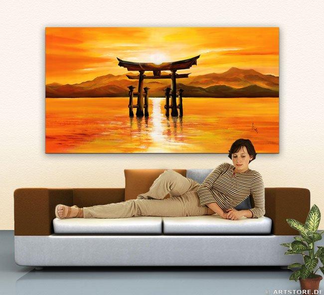 Wandbild Mia Morro TORI JAPAN Wohnbeispiel