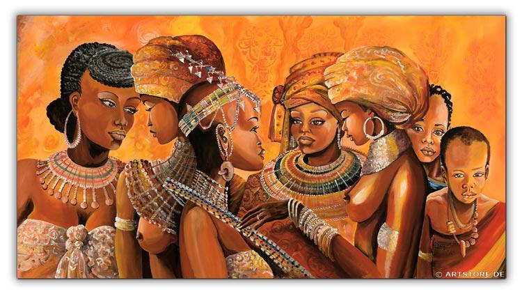 Wandbild Mia Morro AFRIKA HOCHZEIT