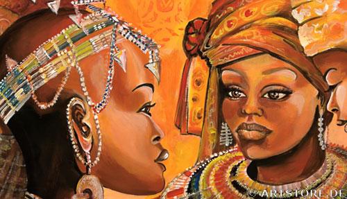 Wandbild Mia Morro AFRIKA HOCHZEIT Detailausschnitt