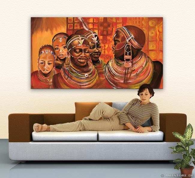 Wandbild Mia Morro AFRIKA MODE Wohnbeispiel