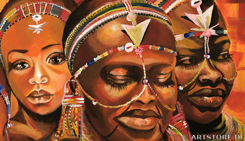 Wandbild Mia Morro AFRIKA MODE Detailausschnitt