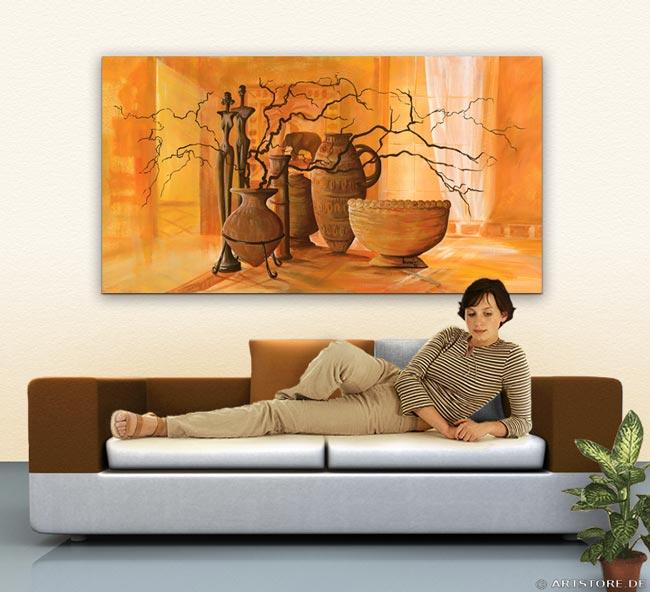 Wandbild Mia Morro STILLEBEN DEKORATION Wohnbeispiel