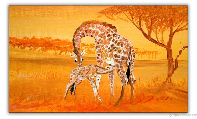Wandbild Mia Morro GIRAFFEN - AFRIKA BILDER EDITION